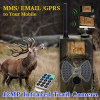 Wholesale New MP NM inch LCD Vision Night Trail Hunting Camera With GPRS Lockable and Password Protected High Quality