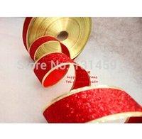 Wholesale 10 Christmas decorations cm red color grade Christmas onion powder color ribbon wedding ribbon christmas belt