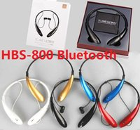 Wholesale HBS HBS800 Sports Tone Ultra Bluetooth Wireless HBS Headset Earphone Headphones for LG Iphone samsung s5 note4 DHL FREE