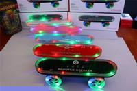 kick scooter - Skateboards Speaker Colorful LED Flash Kick Scooters Mini Subwoofer Stereo Speaker Support TF Card U Disk For Smart Phone Christmas Gift