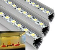 Wholesale LED Bar Lights m LED LEDs Bar Lights V Hard Strip Bar Light V shape U shape Aluminium Alloy Shell Housing Rigid Strips