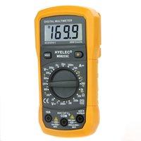 Wholesale Hot Sale Multifunction Mini Digital Multimeter w Temperature Test Back Light Multimetro Ammeter Multitester HYELEC MS8233C free