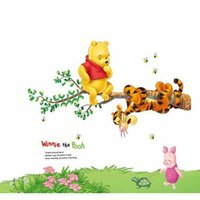 winnie the pooh - Winnie the Pooh Pattern PVC Transparent Wall Sticker Cute and Colorful Nursery Kid s Room Wall Decoration