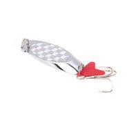 fishing hooks wholesale - Metal Fishing Spoon Lure Sequin Paillette Hard Bait Treble Hook Fishing Tackle cm g cm g cm g Silver H11968