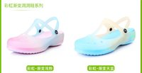 garden clogs shoes - 2015 New Womens Summer Beach Clogs Candy Color Hole Sandals Flat Heel Garden Shoes