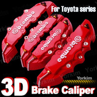 caliper disc brake - D Red Brembo For Toyota Style Car Brake Disc Caliper Cover Racing Front Rear KIT car styling parking
