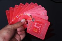 Wholesale 100 Original Unlock Card R SIM RSIM R SIM unlock for iphone plus s c s iOS6 X X WCDMA GSM CDMA DHL Free
