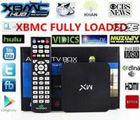 Wholesale G BOX AMLogic MX Android TV Box M6 Dual Core GB GB Cortex A9 ghz Support XBMC Youtube built in Google app wifi