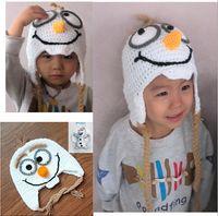 Wholesale 2015 cute cartoon kids snowman Dairy knitting warm winter snowman hat cap Snowman Plush Doll Toy Cosplay Hat handmade beanie TOPB734