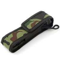 Wholesale New Hot Outdoor Gear Camouflage C8 cm Holster Pouch Bag Case for LED Torch Flashlight L0324 SYSR