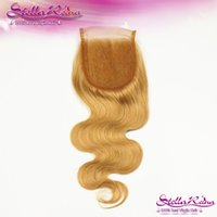 beauty parts - Lili Beauty Colored Honey Blonde Hair Body Wave Lace Closure quot x4 quot Free Part Peruvian Hair Closure Remy Human Hair Extension