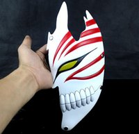 Wholesale 1pcs Kurosaki Ichigo Masks Halloween Half Face BLEACH Party Cosplay Mask For Adult