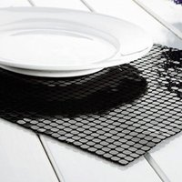 Wholesale Continental stylish aluminum star hotel restaurant dedicated placemat placemat mat Desktop mat Cup and Saucer