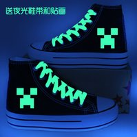 Cheap Minecraft canvas shoes men and women JJ strange increased high-top canvas shoes Minecraft casual Shoes FASHION456