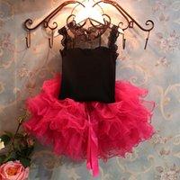 pettiskirt set - 2015 GirlsTutu Princess Dress suits lace dress tutu skirt sets piece sets top skirt Pettiskirt Tutu Dress suits