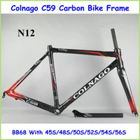 Wholesale C59 Road Carbon Bike Frame K Full Carbon Fibre Road Bicycle Parts With BB68 Size S S S S S S Cycling Kit
