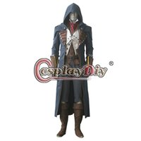 assassins outfit - Assassins Creed Unity Arno Victor Dorian Costume Outfit Adult Men s Halloween Costume Custom made assassin creed game costume