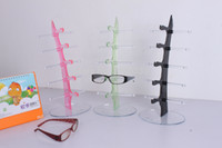 Wholesale 100pcs Plastic Glasses Display Rack pc Holder pairs of Eyeglasses Sunglasses Display Stand DTG