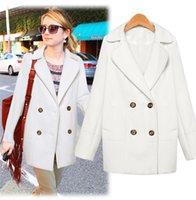 Cheap Abrigos Mujer 2014 Winter Coat Women European New Double-Breasted Manteau Femme Long Coat Thick Wool Desigual Coat