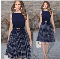 ladies casual wear - Women Casual Dress Polka Dot Print Chiffon Vestidos Ladies Elegant ladies wear dress ball gown dress