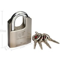 Wholesale 1pc Heavy Duty Shrouded Shackle Protective Padlock High Security Lock with Keys new hot rock