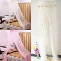 mosquito net - Elegant Round Lace Insect Bed Canopy Netting Curtain Dome Mosquito Net Outdoor Home Used Multicolor Optional