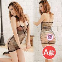Cheap 2013 New Hot Sexy Revealing Lingerie For Women,Exotic Sheer Fishnet Pole Dance Clothing,Stripper wear,Teddies,Catsuit Clubwear