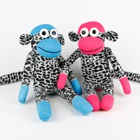 Wholesale handmade baby toys sock monkey stuffed animal doll birthday christmas new year favor gifts