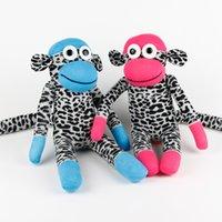 achat en gros de bébés à la main jouets chaussette-Jouets pour bébés à la main chaussettes singe 029 animaux en peluche poupée anniversaire cadeaux de Noël nouvelle année