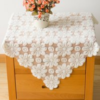 beige tablecloth - Lace Tablecloths Europe Elegant Style Tablecloth for Wedding Hollow Out Table Covers Home Decor Textiles Beige JM0120