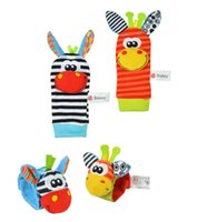 Wholesale Baby toy baby rattles toys animal socks Wrist Strap with rattle Foot socks Bug wrist strap