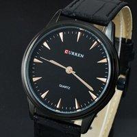 wach - Big Discount Men Simple and Stylish Black Leather Watch Curren Luxury Brand Analog Quartz Wristwatch Man Dress Wach