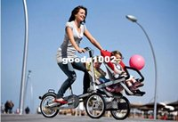 baby seat carrier bicycle - New inch Aluminium Alloy Carrier Bicycle carrinho baby car Double baby seats in1 Baby Strollers Folding Taga Bike for Twins