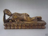alabaster carving - Chinese Buddhism Reclining Buddha Hand Carved Stone alabaster decorations