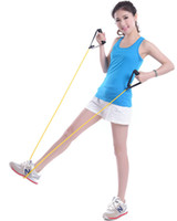 Wholesale Women pull rope Yellow LB natural rubber power tube Multi functional home personal Training exercise support band