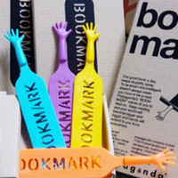 Wholesale 4PCS Cute HELP ME Hand Bookmark Novelty Ducument School Book Marker Label Stationery