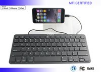 Wholesale MFI certified iPad mini iPad Air Wired keyboard with pin Lightning connector From Apple Supplier