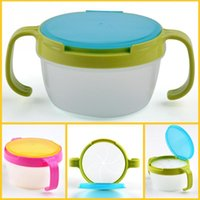 Wholesale New Child Double Handle Snack Cup Biscuits Candy Snack Cans Baby Like Edible Safety Dinnerware Babies Bowl