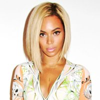 Cheap 2014 New beyonce wig lace front human hair bob short wig ladieslace human hair wigs two toned or ombre