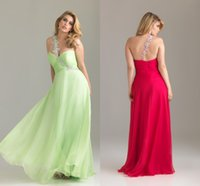Wholesale One Shoulder Chiffon Plus Size Dresses Beaded Ruched Backless Floor length Prom Gowns Hot On Sale SL0730