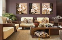 Wholesale Home Decor Art Painting Orchid Flower Modern Picture Oil Canvas Wall No Frame