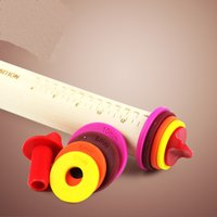 adjustable rolling pin - Art exhibition Inch Adjustable Wood Rolling Pin Multi Color cheap whlosale