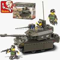 abrams tank model - SLUBAN world of tanks M1 Abrams Building Blocks Sluban DIY scale models Block Army toy for boy Educational Bricks Toys
