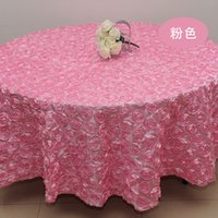 Wholesale New Arrival D Rose Table Cloth Wedding Banquet Party Round Overlays Round Tablecloths Wedding Supplier Colors