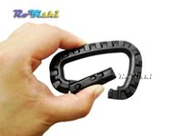 Buckle d-ring - Black Carabiner Snap Hanging Hook D Ring Strong Tactical Tac Link EDC Tool