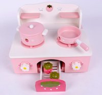 Wholesale high quality Mini kitchen play tools Pretend Play and Dress up pink color gift for girls Kitchens Play Food