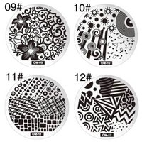 Wholesale Nail Art Stamping Plates Lace Flower Image Templates Stamper Scraper New Designs Steel Polish Konad Nail Stamp Nail Tool