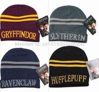 beach college - Harry Potter college hats Gryffindor cap Slytherin beanies Ravenclaw skullies winter hat