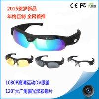 Wholesale 1080P HD camera glasses degrees wide angle lens outdoor photo camera DV