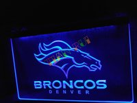 led sign - LD067 b Denver Broncos Bar Pub Logo Neon Light Sign home decor shop crafts led sign
